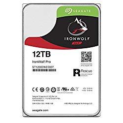 Seagate IronWolf Pro 12 TB NAS RAID Internal Hard Drive – 7,200 RPM SATA 6 Gb/s 3.5-inch (ST12000NE0007)