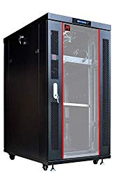 22U 32″ Deep IT Free Standing Server Rack Cabinet Enclosure. Temperature Control System, Casters, LCD-Screen, PDU and Other Accessories Included – Over $ 150 Savings