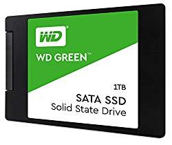 WD Green 1TB Internal PC SSD – SATA III 6 Gb/s, 2.5″/7mm – WDS100T2G0A