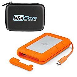 LaCie 5TB LaCie Rugged Thunderbolt USB-C (STFS5000800) with DVE Hard Case Bundle