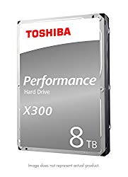 Toshiba X300 8TB Performance Desktop and Gaming Hard Drive 7200 RPM 128MB Cache SATA 6.0Gb/s 3.5 Inch Internal Hard Drive (HDWF180XZSTA)