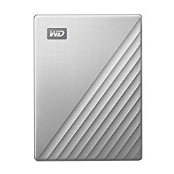 Western Digital 4TB My Passport Ultra Silver Portable External Hard Drive, USB-C – WDBFTM0040BSL-WESN