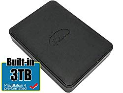 Avolusion 3TB USB 3.0 Portable PS4 External Hard Drive – for PS4 Slim, PS4 Pro (PS4 Pre-Formatted) HD250U3-X1-3TB-PS4-2 Year Warranty