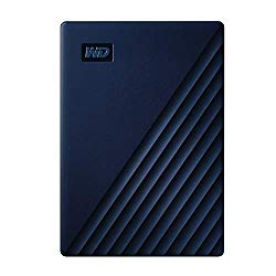 WD 2TB My Passport for Mac Portable External Hard Drive – Blue, USB-C/USB-A – WDBA2D0020BBL-WESN