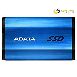 ADATA SE800 1TB IP68 Rugged – Up to 1000 MB/s – SuperSpeed USB 3.2 Gen 2 USB-C External Portable SSD Blue (ASE800-1TU32G2-CBL)