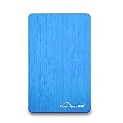 2.5″ Portable External Hard Drive USB3.0 Hard Disk for Desktop,Laptop,PC (320gb-blue)