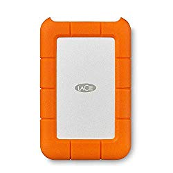 LaCie Rugged USB-C 4TB External Hard Drive Portable HDD – USB 3.0, Drop Shock Dust Rain Resistant Shuttle Drive, for Mac and PC Computer Desktop Workstation Laptop, 1 Month Adobe CC (STFR4000800)
