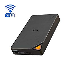 SSK 2TB Portable NAS External Wireless Hard Drive with Own Wi-Fi Hotspot, Personal Cloud Smart Storage Support Auto-Backup, Phone/Tablet PC/Laptop Wireless Remote Access