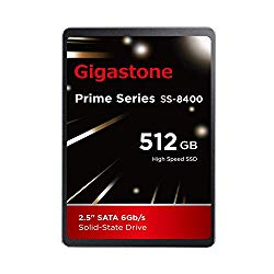 Gigastone 512GB 2.5″ Internal SSD, 3D NAND Solid State Drive, SATA III 6Gb/s 2.5 inch 7mm (0.28″), Read up to 550MB/s