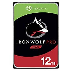 Seagate IronWolf Pro 12TB NAS Internal Hard Drive HDD – 3.5 Inch SATA 6Gb/s 7200 RPM 256MB Cache for RAID Network Attached Storage Data Recovery Service – Frustration Free Packaging (ST12000NE0007)