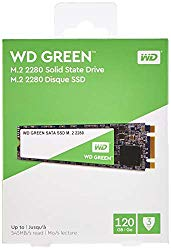 Western Digital WDS120G2G0B WD Green 120 GB Internal Solid State Drive – SATA – M.2 2280, 120GB